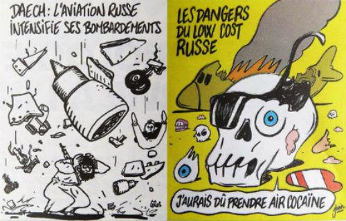 Шарли Ебдо карикатура руски самолет
