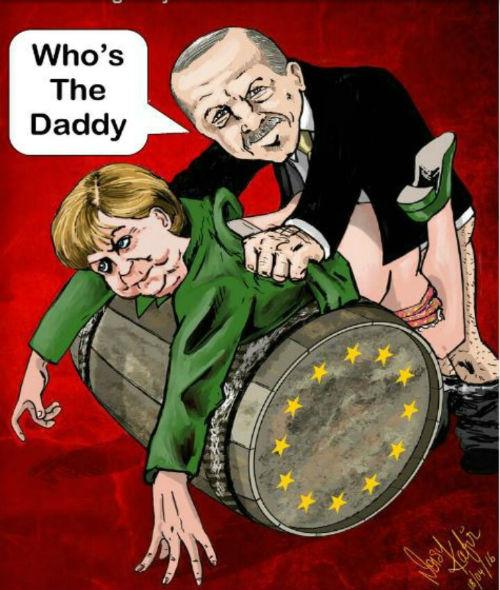Erdogan_ebe_Merkel_karikatura